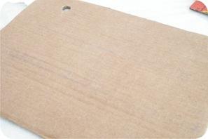 tutorial moldura de papelao forrada com tecido