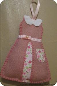vestido de feltro