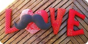mustache love cushion