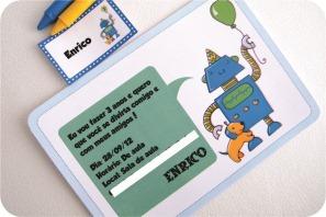 convite festa de robot