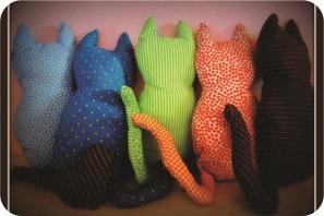 gatos de tecido