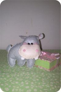 hipopotamo de feltro