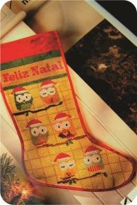 bota de corujas natalinas