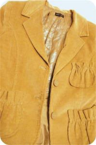 blazer de veludo customizado