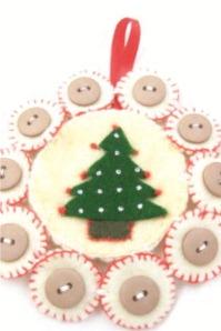 christmas tree felt ornament