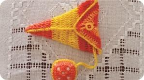 crochet scissor fob