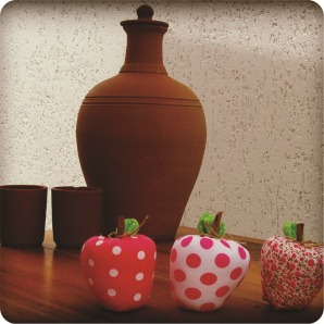 fabric apples