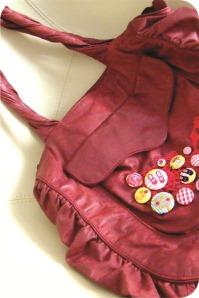 bolsa vermelha customizada