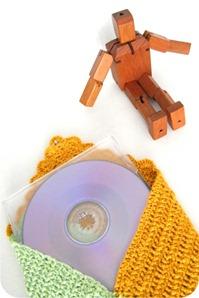 envelope de croche para cd