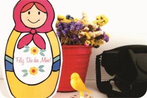 embalagem matryoshka para o dia das mães