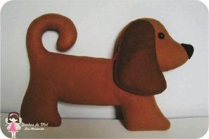 cachorro de feltro