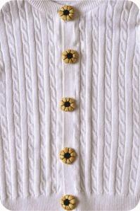 flor de pano - botão