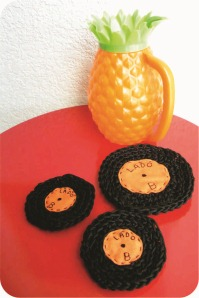 coaster em formato de disco de vinil