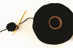 coaster de crochê em formato de disco de vinil
