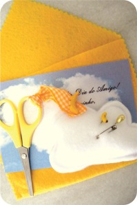 envelope de feltro