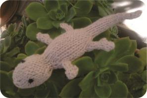 lagartixa de tricô