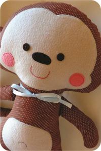macaco de pano