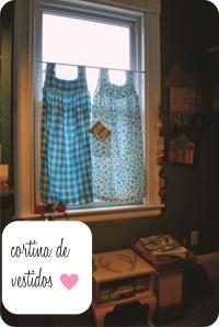 cortina de vestidos