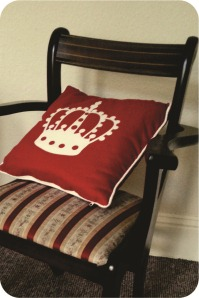 chair and cushion
