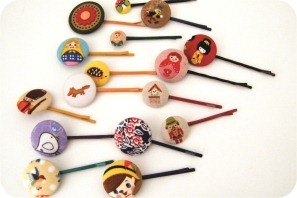 button hair pin