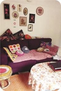 aubergine sofa