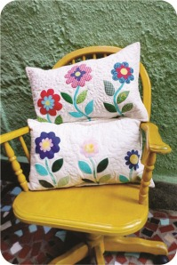 patchwork flower cushions