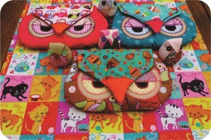 owl fabric case