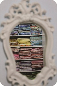 fabric on the mirror