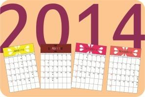 calendario mensal 2014