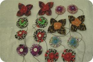 fabric yoyo christmas garland