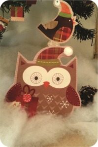 robin and owl christmas decoration