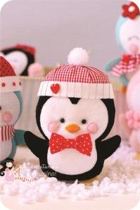 christmas felt penguin
