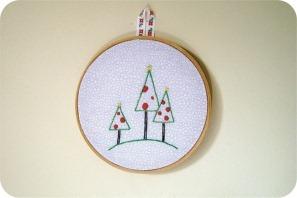 christmas tree embroidery