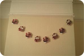 christmas paper garland