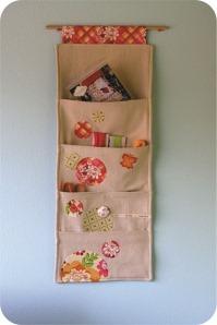 wall fabric pockets
